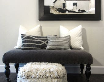 Grey Pillow Cover #1