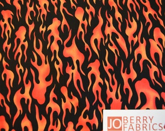 Flames from the Open Road Collection by Exclusively Quilters.  Quilt or Craft Fabric, Fabric by the Yard.