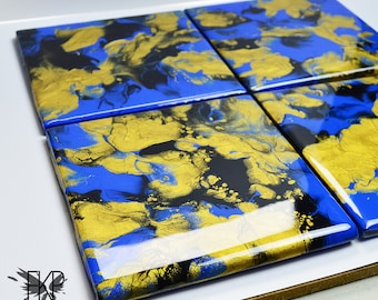 Abstract Tile Coasters set of 4