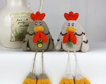 Crochet Pattern of Chicken Easter (Tutorial PDF file)