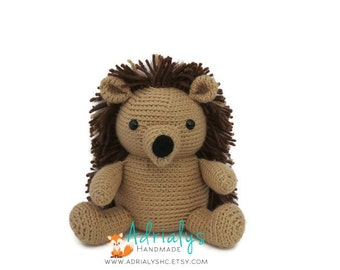 Crochet Hedgehog | Hedgehog Toy | Crochet Animals | Crochet Toy | Woodland Nursery Decor | Woodland Animals | Made to Order