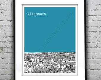 20% OFF Memorial Day Sale - Vilamoura Portugal Poster Art Print  Skyline