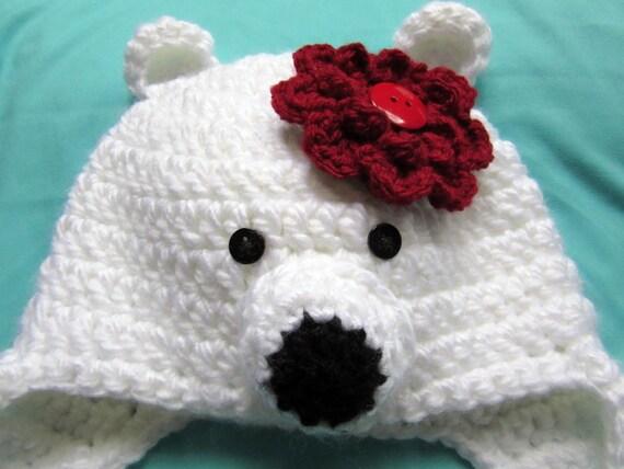 Eisbär Häkelmütze Kleinkind Geschenk Hüte häkeln für Kinder