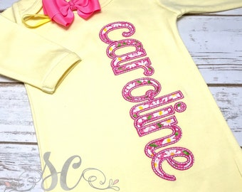 Newborn Girl - Baby Girl Coming Home Outfit - Personalized Baby Gown - Baby Girl Bring Home Outfit - Unique Baby Clothes - Monogrammed