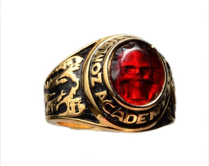 Zombie  Combat Academy Graduation Ring SIZE 9