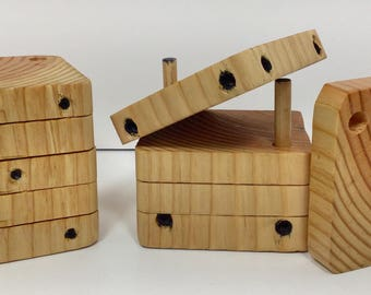 Wooden Dice Coaster/Puzzle Set