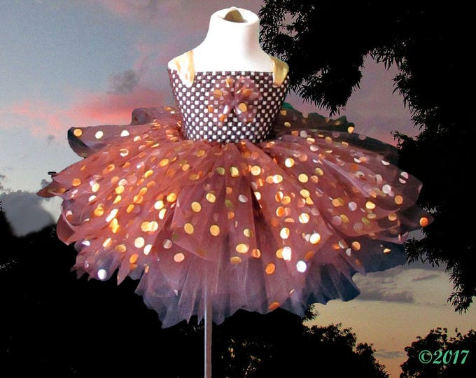 Children's Couture Chocolate Gold Tutu