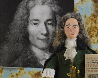 Voltaire Doll Historical Miniature French Art Character French Philosopher