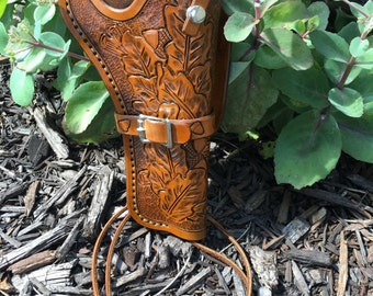 Leather holster (handtooled)