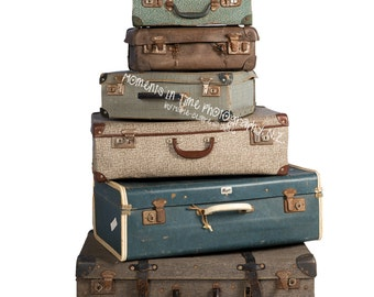 Vintage suitcase etsy moments in time vintage suitcases digital overlay gumiabroncs Gallery