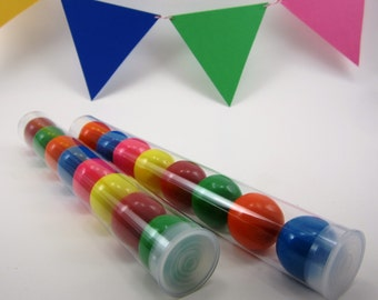 """5 Clear Plastic Candy Tubes With Plastic Cap - 8"""" Long - Wedding Favor, Party Favor, Birthdays, Sweet 16, Gumball Tube"""