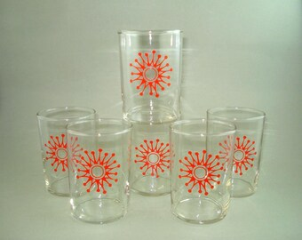 Set of 6 Vintage Old  Russian Soviet USSR Tea Cup Glasses for Tea Cup Holders - FREE SHIPPING!!!