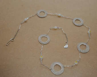 Gold and cream Necklace 2