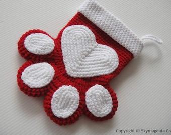 Crochet Pattern - PETS CHRISTMAS SOCKS - pdf pattern (00468)