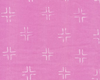 Trellis Purple Organic Cotton Fabric, Brush Strokes, Orchid Modern Fabric
