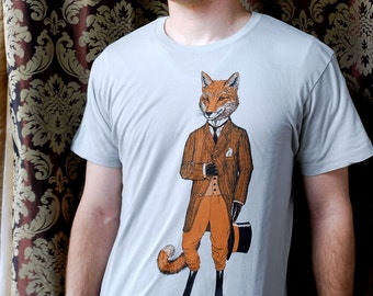 Dapper Fox Men's Shirt  - Men's Fox Shirt - Graphic Tee for Men - Animal Tshirt - Creative Gifts
