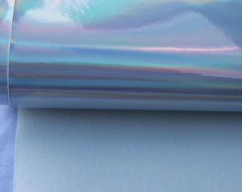 Silver Holographic Vinyl Fabric Mirror Fabric