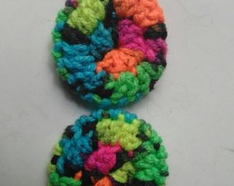 Crochet headphone or headset ear covers pair