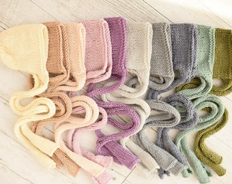 Chunky Strap Newborn Bonnets