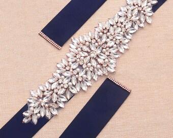 Adorable Rhinestone Pearl Bridal Sash / Wedding Sash/ Bridal Belt