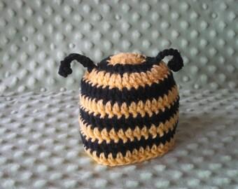 Crochet baby Hat Bumble bee  photo  prop newborn baby boy  baby girl infant hats