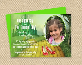 Wicked / Wizard of Oz Birthday Invitation