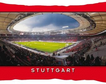 Stuttgart Stadium postcard cushion (50 cm x 30 cm)