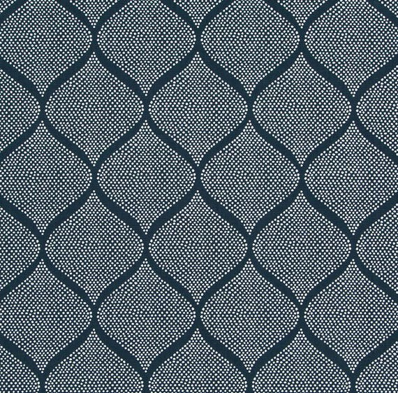 Navy Blue Upholstery Fabric, Indigo Blue White Fabric for Furniture ...