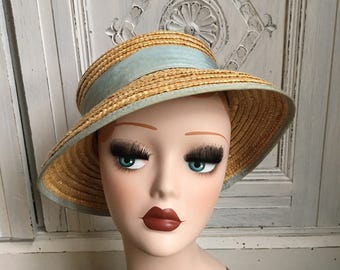 Vintage Laura Ashley Mother & Child Straw Hat - 1980s