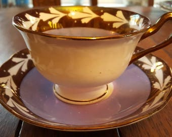 Lustre ware tea for two, Grays Pottery