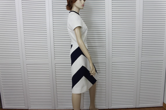 Blue Vintage Dress Set Navy Ann White Small Size Lilli 60's Coat Hw0FOqH