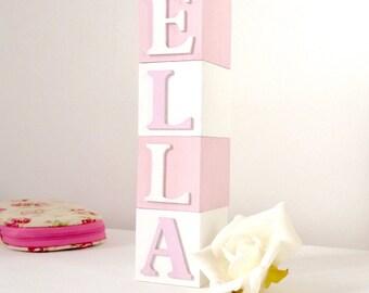 Newborn Keepsake Gift, Baby Name Blocks For Nursery, Montessori Bedroom, Wooden Alphabet Letters, Photo Shoot Decor, Cake Smash Decor