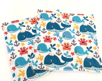 Whale Washcloth // Washcloth for Kids // Nautical Nursery // Facial Wipe // Baby Shower Gift