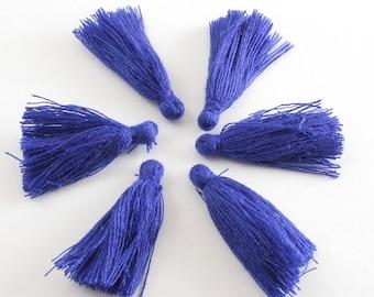 "Blue Tassle, Royal Blue Tassle, Dark Blue Tassle, Rayon Tassel Deep Blue About 40mm (1 5/8"") long - 30mm (1 1/8"") long, TAS-B0091837"
