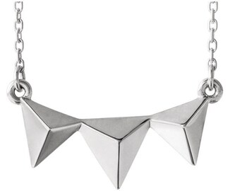 """Sterling Silver Double Heart 16-18"""" Necklace"""