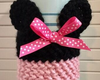 Minnie Mouse Crochet Coffee/Tea Cup Cozy - Coffee Cup Sleeve