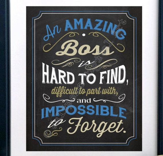An Amazing Boss is hard to find Printable Quote Farewell