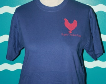 Custom Chicken Shirt - Plus size chicken t-shirt - Farm Name Chicken t-shirt - Chicken Tee - Add custom text to Chicken t-shirt