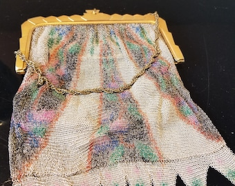 FREE  SHIPPING    1920  Whiting  and  Davis Deco mesh Purse