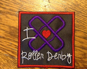 I Heart Roller Derby Patch