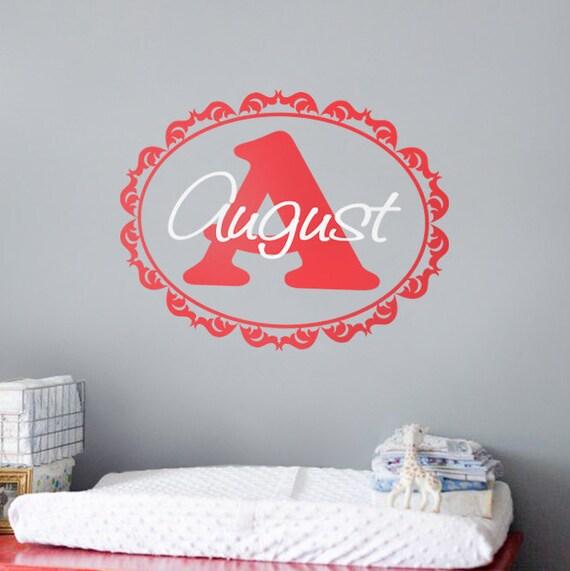 b b chambre mur d cor autocollant de nom personnalis s baby. Black Bedroom Furniture Sets. Home Design Ideas