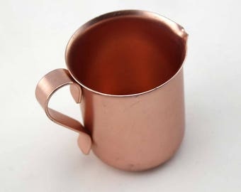 Color Craft Copper Pitcher with Handle and Pour Spout - Color Craft USA - Small Child Size Pitcher - Lightweight Anodized Aluminum - Retro
