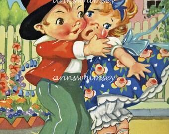 Nursery Art, Baby's Room Art,  Child's Room Art, Restored Antique Art #261  (Set  Three)