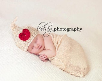 VALENTINE BABY HAT - Premie to Toddler - Knit Kiss Hat with Heart in many color combos, Photography Prop