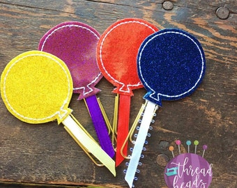 Colored Balloon Planner Clip