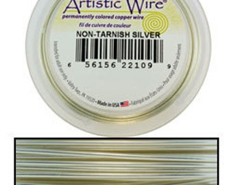 Artistic Wire SP Tarnish Resistant Silver Color 20ga - 25 Foot Spool  (WR36020)