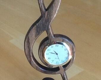 Treble Cleff Desk Clock