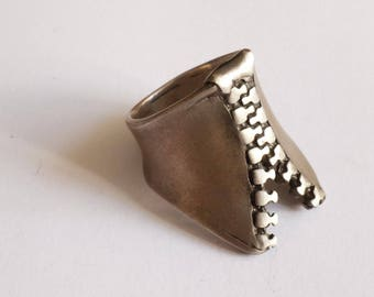 Oxidized Sterling Silver Ring, Rustic Ring, Contemporary Silver Jewelry, Ring for women, Ring for men, Handmade Jewelry, Handcrafted Jewelry