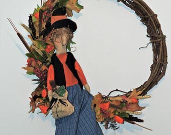 Rag Doll Witch Wreath