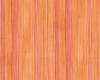In the Beginning Fabrics, The Four Seasons, Orange Stripes, 100% cotton